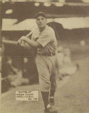 1934 Batter Up Dolph Camilli #150 Baseball Card