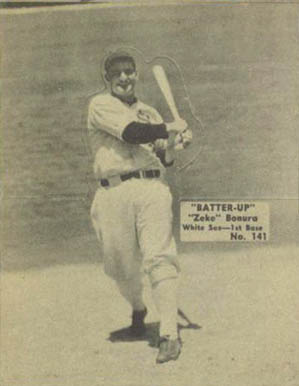 1934 Batter Up Zeke Bonura #141 Baseball Card