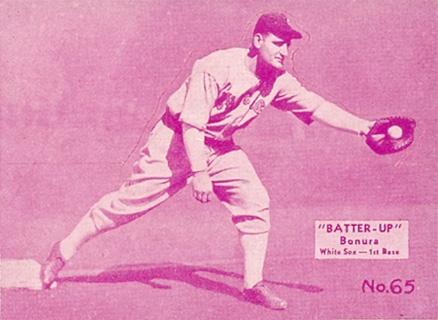 1934 Batter Up Zeke Bonura #65 Baseball Card