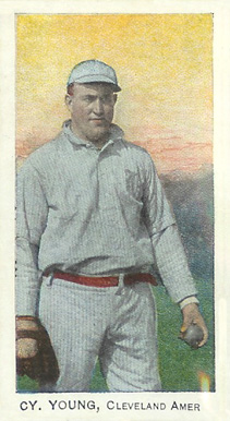 1909 C. A. Briggs (Color) Cy Young #32a Baseball Card
