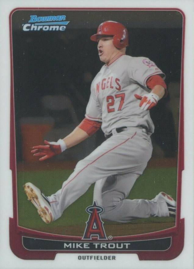 2012 Bowman Chrome Mike Trout #157 Baseball Card