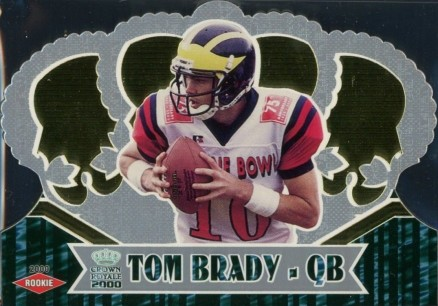 2000 Pacific Crown Royale Tom Brady #110 Football Card