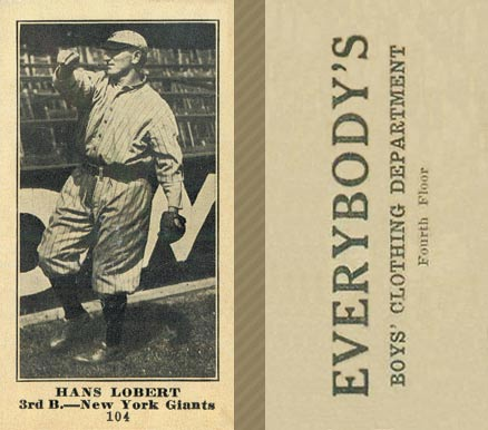 1916 Everybody Hans Lobert #104 Baseball Card
