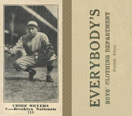 1916 Everybody Chief Meyers #119 Baseball Card
