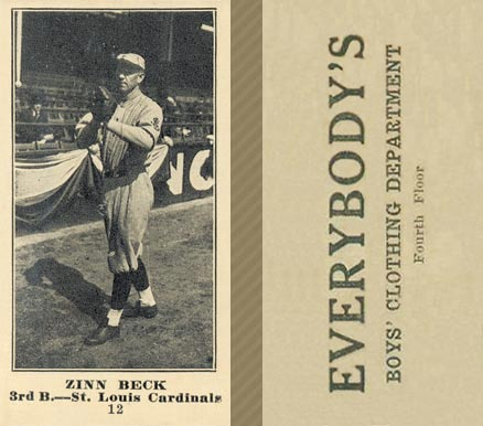 1916 Everybody Zinn Beck #12 Baseball Card