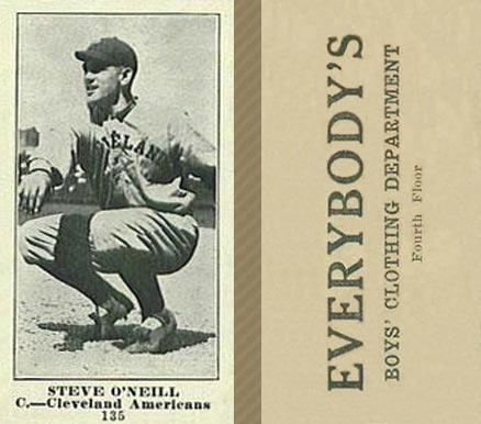 1916 Everybody Steve O'Neill #135 Baseball Card