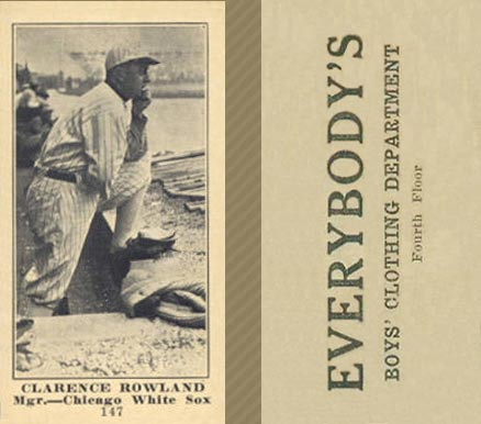1916 Everybody Clarence Rowland #147 Baseball Card