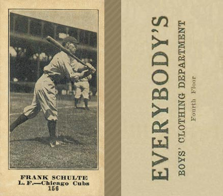 1916 Everybody Frank Schulte #156 Baseball Card