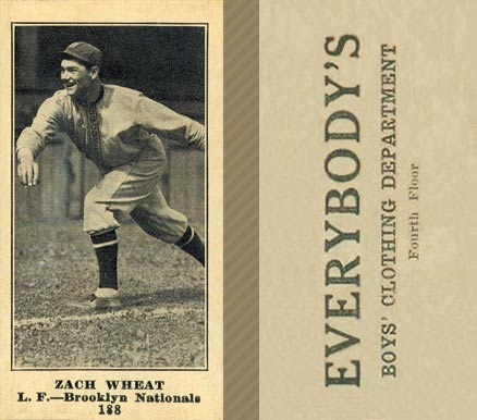 1916 Everybody Zach Wheat #188 Baseball Card