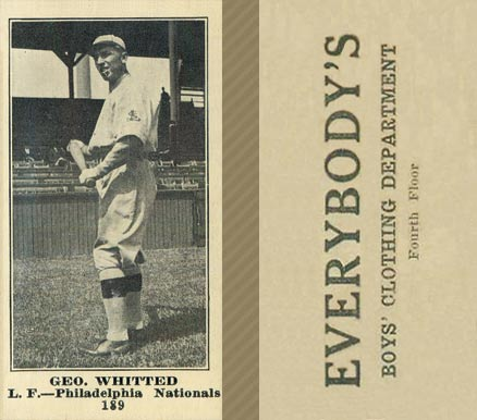 1916 Everybody Geo. Whitted #189 Baseball Card