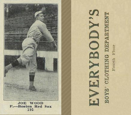 1916 Everybody Joe Wood #195 Baseball Card