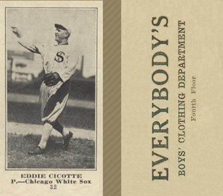 1916 Everybody Eddie Cicotte #32 Baseball Card