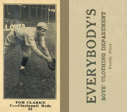 1916 Everybody Tom Clarke #33 Baseball Card