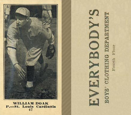 1916 Everybody William Doak #47 Baseball Card