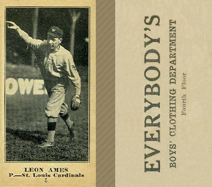 1916 Everybody Leon Ames #5 Baseball Card