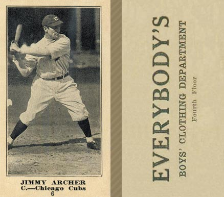 1916 Everybody Jimmy Archer #6 Baseball Card
