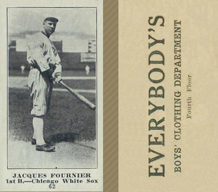 1916 Everybody Jacques Fournier #62 Baseball Card