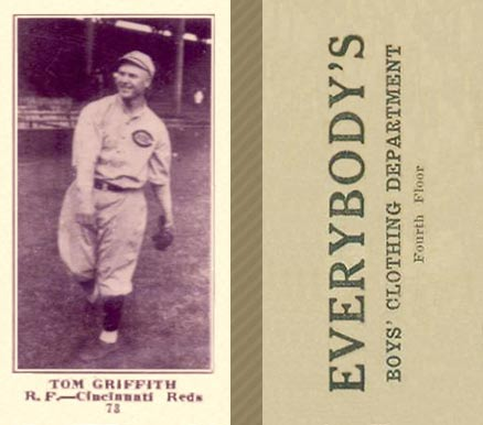 1916 Everybody Tom Griffith #73 Baseball Card