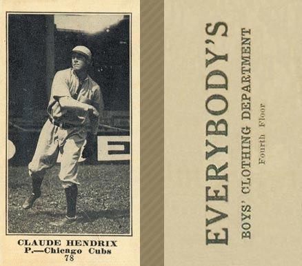 1916 Everybody Claude Hendrix #78 Baseball Card