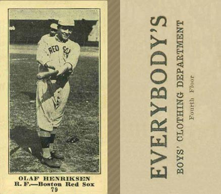 1916 Everybody Olaf Henriksen #79 Baseball Card