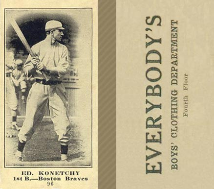 1916 Everybody Ed. Konetchy #96 Baseball Card