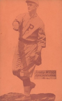 1926 Exhibit Postcard backs (1926-1929) Jimmy Wilson #68 Baseball Card
