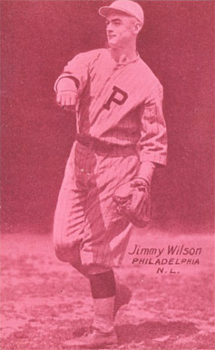1926 Exhibit Postcard backs (1926-1929) Jimmy Wilson #67 Baseball Card