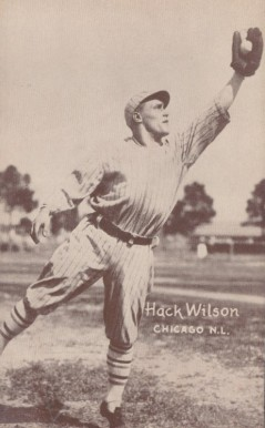 1926 Exhibit Postcard backs (1926-1929) Hack Wilson #66 Baseball Card