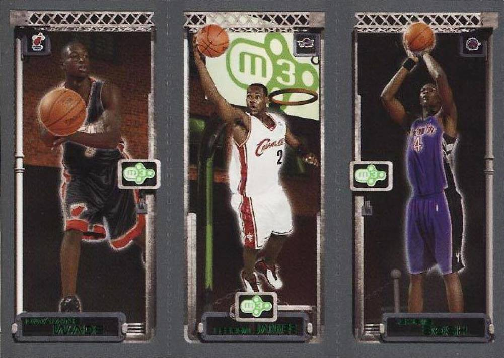 2003 Topps Rookie Matrix Rookie Trio Bosh/James/Wade #BJW Basketball Card
