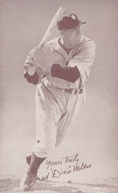 "1939 Exhibits Salutation Fred ""Dixie"" Walker #78 Baseball Card"