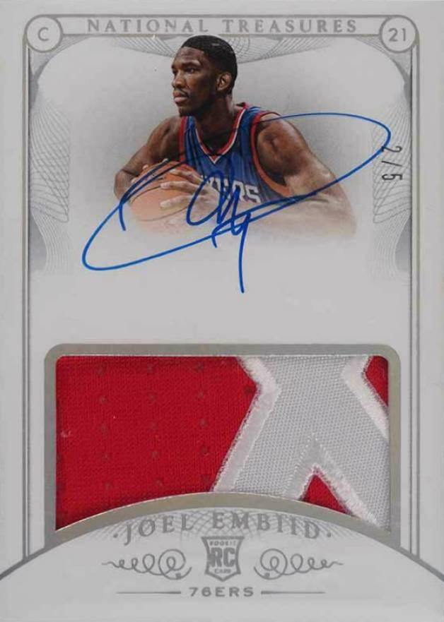 2014-15 Joel Embiid Panini Donruss The Rookies Philadelphia 76ers Rookie Basketball Card #3