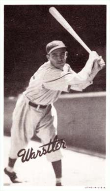 "1936 Goudey Premium Wide Pens ""Rabbit"" Warstler #193 Baseball Card"