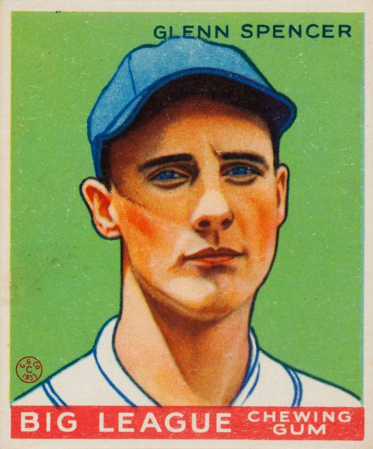 1933 Goudey Glenn Spencer #84 Baseball Card