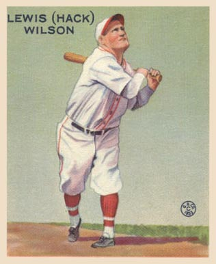 1933 Goudey Hack Wilson #211 Baseball Card