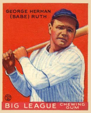 1933 Goudey Babe Ruth #149 Baseball Card