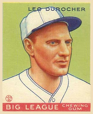 1933 Goudey Leo Durocher #147 Baseball Card