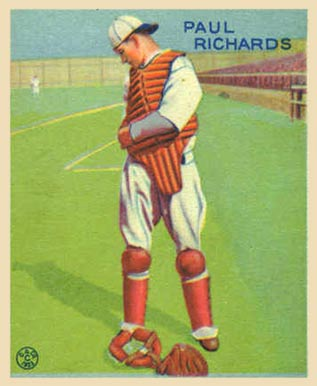 1933 Goudey Paul Richards #142 Baseball Card