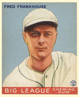 1933 Goudey Fred Frankhouse #131 Baseball Card