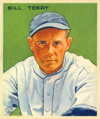 1933 Goudey Bill Terry #125 Baseball Card
