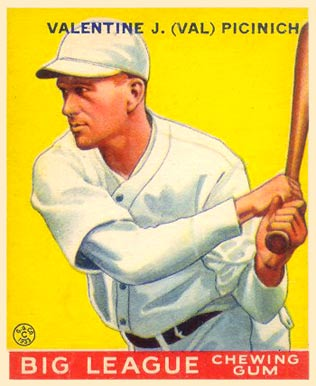 1933 Goudey Val Picinich #118 Baseball Card