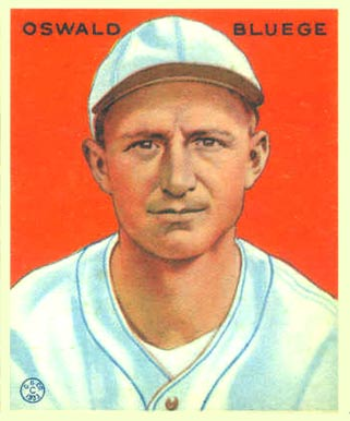 1933 Goudey Oswald Bluege #113 Baseball Card