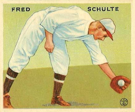 1933 Goudey Fred Schulte #112 Baseball Card