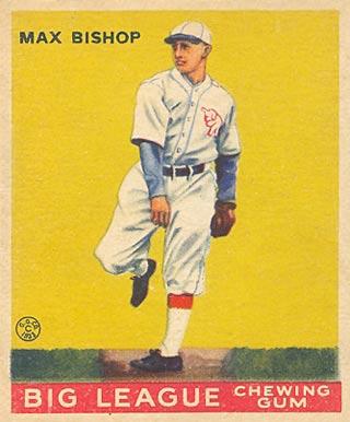 Max Bishop Baseball Cards
