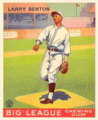 1933 Goudey Larry Benton #45 Baseball Card