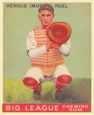 1933 Goudey Muddy Ruel #18 Baseball Card