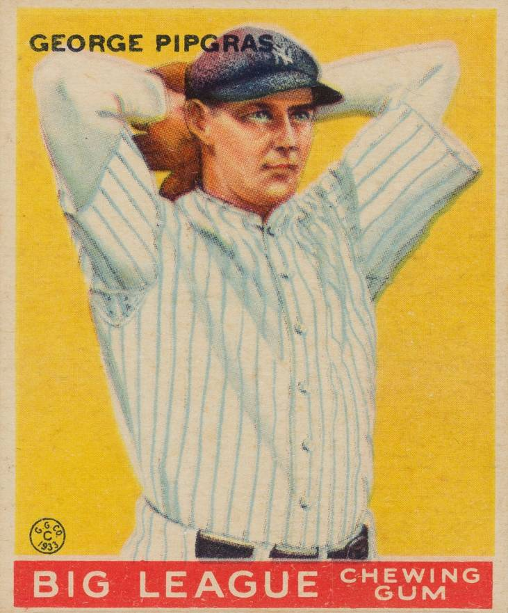 1933 Goudey George Pipgras #12 Baseball Card