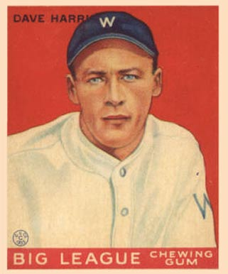 1933 Goudey Dave Harris #9 Baseball Card