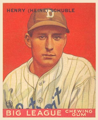 1933 Goudey Heinie Schuble #4 Baseball Card