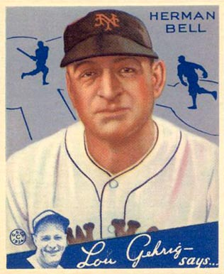 1934 Goudey Herman Bell #52 Baseball Card