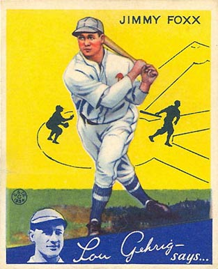 1934 Goudey Jimmie Foxx #1 Baseball Card